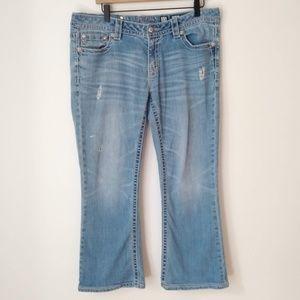 Miss me Signature Boot Flap Pockets Jeans